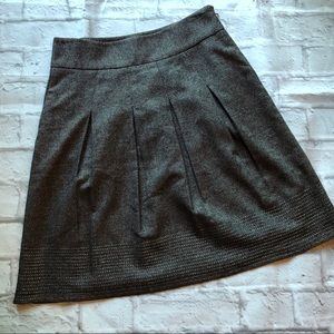 Ann Taylor black tweed circle skirt size 0